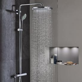 Grohe Euphoria XXL System 310 shower system with wall-mounted thermostatic shower mixer chrome