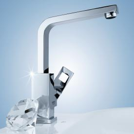 Grohe Eurocube single lever basin mixer with swivel spout, L-Size with flow rate limiter, with pop-up waste set
