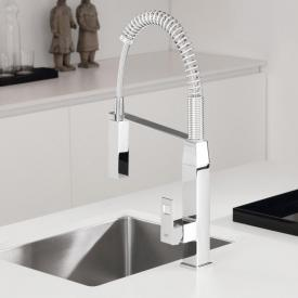 Grohe Eurocube single lever kitchen mixer with professional spray chrome