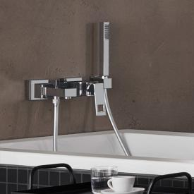 Grohe Eurocube wall-mounted single lever bath mixer with shower set
