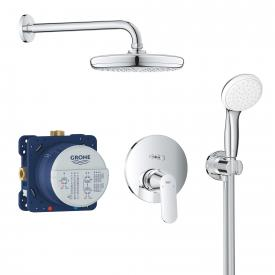 Grohe Eurosmart Cosmopolitan concealed, shower system with Tempesta 210 overhead shower