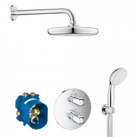 Grohe Grohtherm 1000 concealed shower system, with Tempesta 210 overhead shower