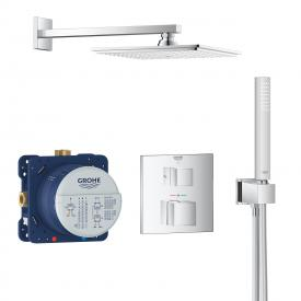 Grohe Grohtherm Cube concealed shower system with Rainshower Allure 230