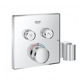 Grohe Grohtherm SmartControl thermostat with 2 shut-off valves and integrated shower bracket