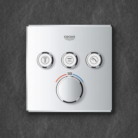 Grohe Grohtherm SmartControl thermostat with 3 shut-off valves chrome