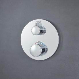 Grohe Grohtherm thermostatic shower mixer with 2-way diverter round, for Rapido SmartBox