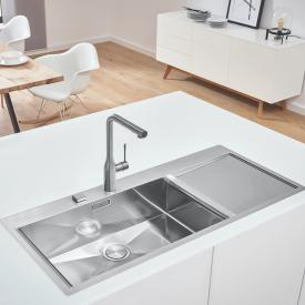 Grohe K1000 built-in sink with drainer, flush-mounted
