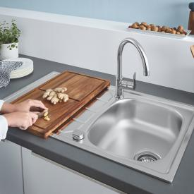 Grohe K200 reversible sink with BauEdge single lever kitchen mixer