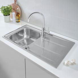 Grohe K400 reversible sink with Concetto single lever kitchen mixer