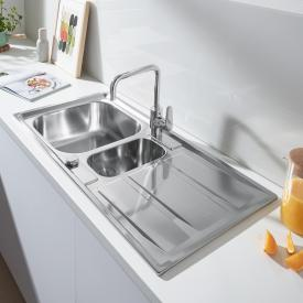 Grohe K400 reversible sink with drainer