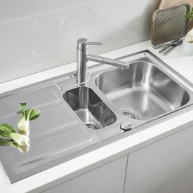 Grohe K400+ reversible sink with drainer