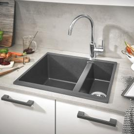 Grohe K500 reversible sink granite grey