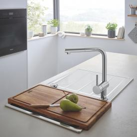 Grohe K500 reversible sink with Minta single lever kitchen mixer