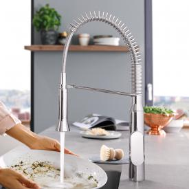 Grohe K7 Foot Control single lever kitchen mixer, medium height spout chrome