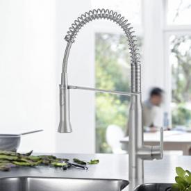 Grohe K7 single lever kitchen mixer supersteel