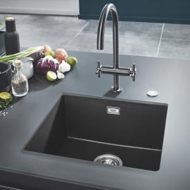 Grohe K700U undermount sink granite black