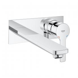 Grohe Lineare wall-mounted, two hole basin mixer projection: 207 mm, chrome