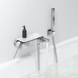 Grohe Plus wall-mounted single lever mixer, with shower set chrome
