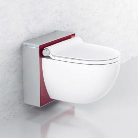 Grohe Sensia IGS shower toilet, complete set for concealed cistern, wall-mounted, with toilet seat white/matt chrome/red