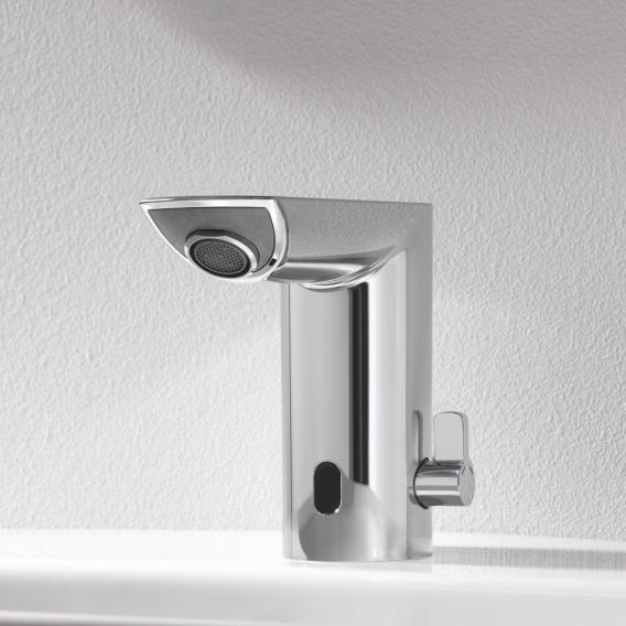 Grohe Bau Cosmopolitan E infrared electronic basin fitting with mixing device, battery-powered, without waste set