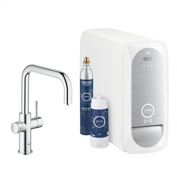 Grohe Blue Home the NEW kitchen fitting with filter function, U spout chrome