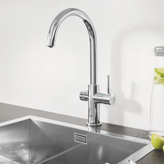 Grohe Blue Professional the NEW kitchen fitting with filter function, C spout chrome