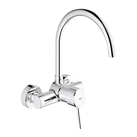 Grohe Concetto Wall Mounted Single Lever Kitchen Mixer 1 2 32667001 Reuter