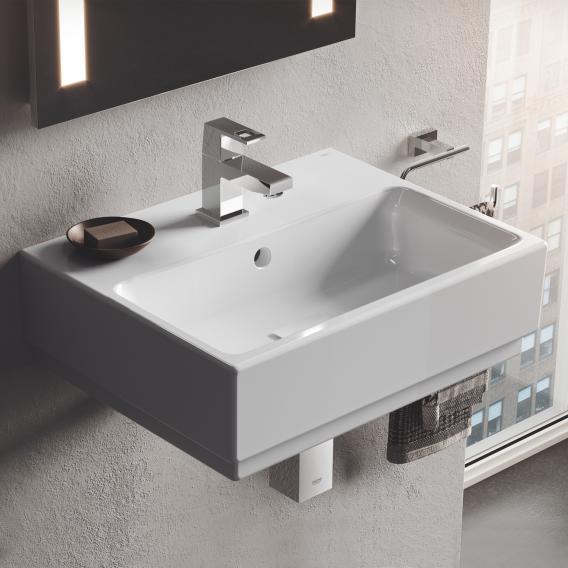 Grohe Cube Ceramic hand washbasin, white, with PureGuard hygiene coating