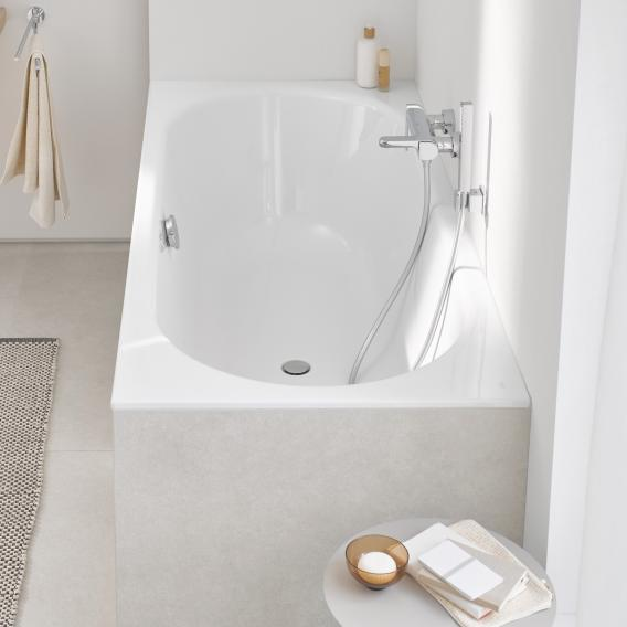Grohe Essence rectangular bath white, with EasyClean