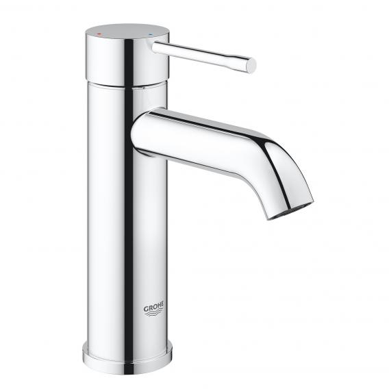 Grohe Essence single lever basin mixer, ES-function, S-Size with push-open waste valve