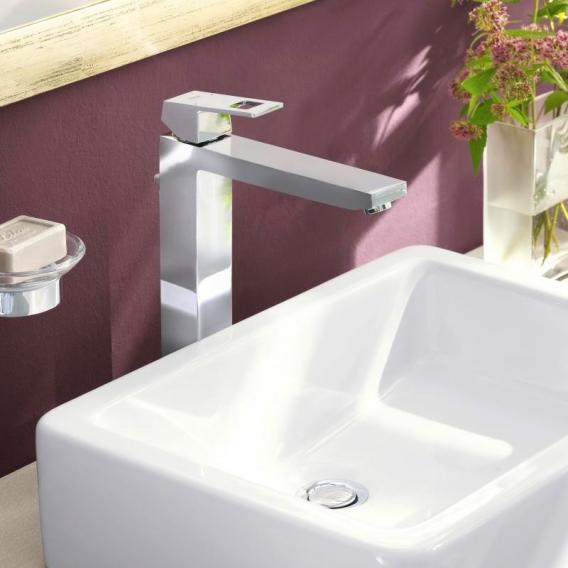 Grohe Eurocube single lever basin mixer, for free-standing wash bowls, XL-Size without waste set
