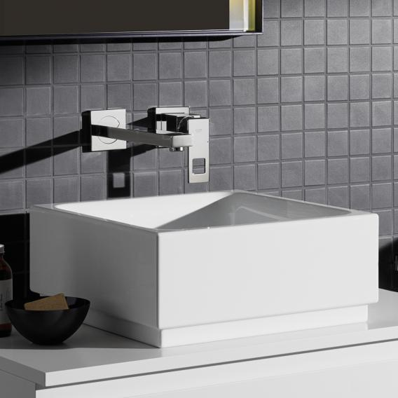 Grohe Eurocube wall-mounted two hole basin mixer projection: 231 mm