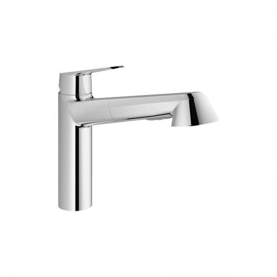 Grohe Eurodisc Cosmopolitan single lever kitchen mixer with pull-out spray