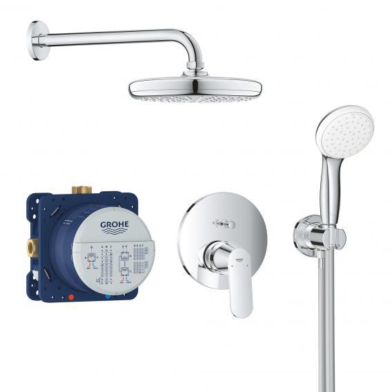 Grohe Eurosmart Cosmopolitan concealed, shower system with Tempesta 210 overhead shower