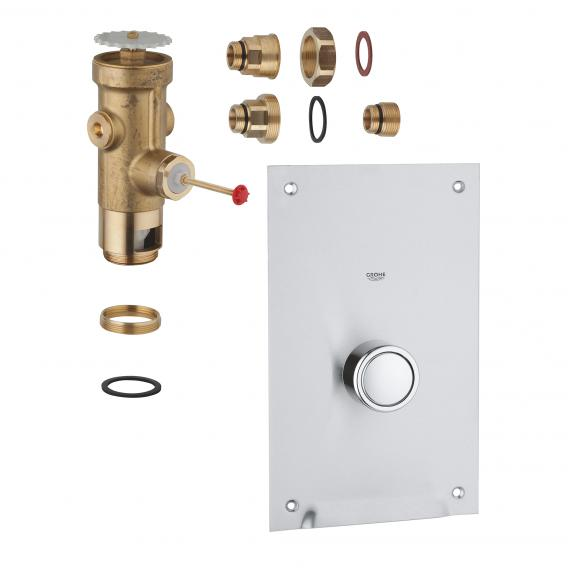 Grohe flushing valve for toilet, recessed wall mounting