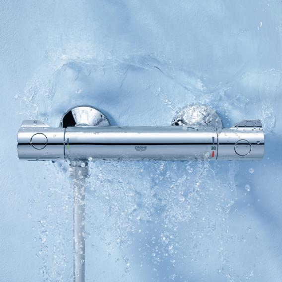 Grohe Grohtherm 800 thermostatic shower mixer, wall-mounted
