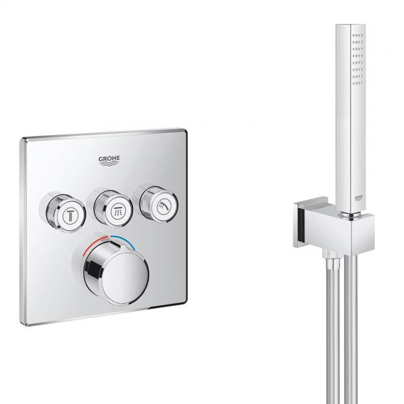 Grohe Grohtherm SmartControl concealed shower system with mixer & Rainshower 310 SmartActive Cube