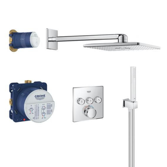 Grohe Grohtherm SmartControl concealed shower system with thermostat & Rainshower 310 SmartActive Cube