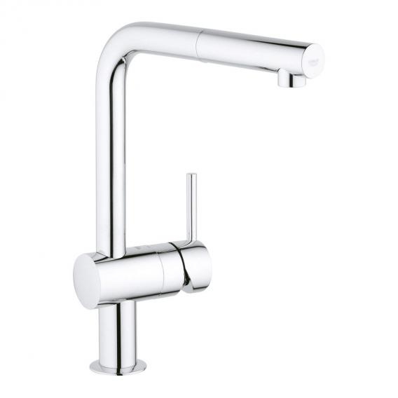 Grohe Minta kitchen fitting with pull-out spout, for low pressure