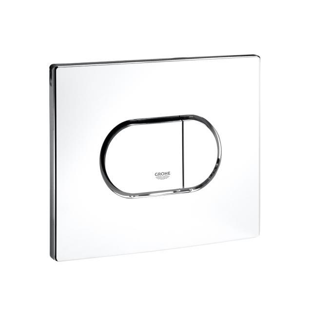 Grohe Arena Cosmopolitan toilet flush plate, for horizontal installation white