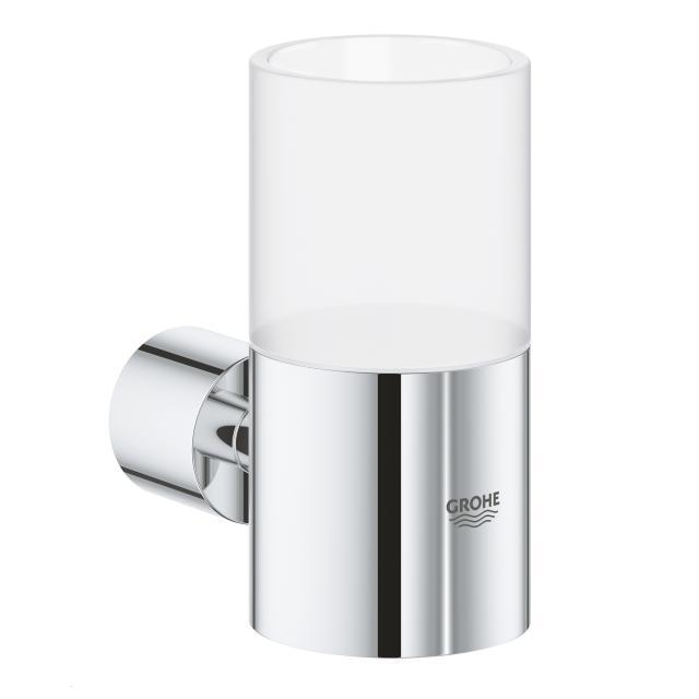 Grohe Atrio bathroom set, crystal tumbler and holder chrome