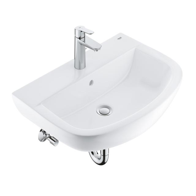 Grohe Bau Ceramic SET washbasin 55 cm, with BauEdge fitting and installation accessories