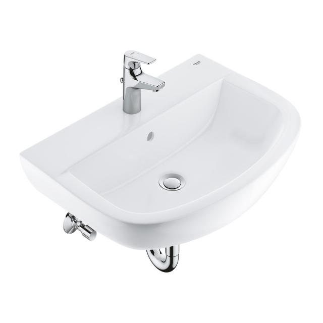 Grohe Bau Ceramic SET washbasin 60 cm, with BauFlow fitting and installation accessories