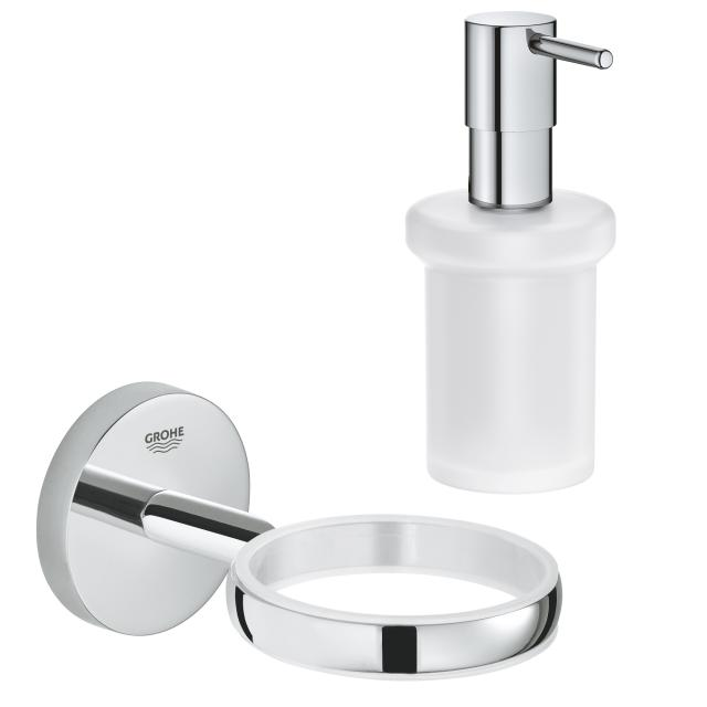Grohe BauCosmopolitan bathroom set with soap dispenser chrome