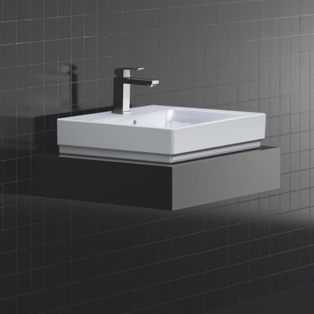 Grohe Cube Ceramic countertop washbasin, white, with PureGuard hygiene coating