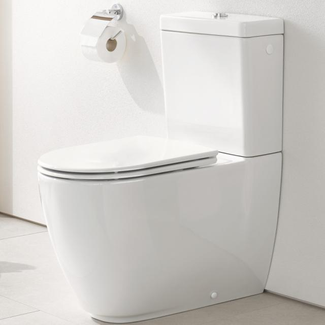 Grohe Essence floorstanding close-coupled washdown toilet, rimless