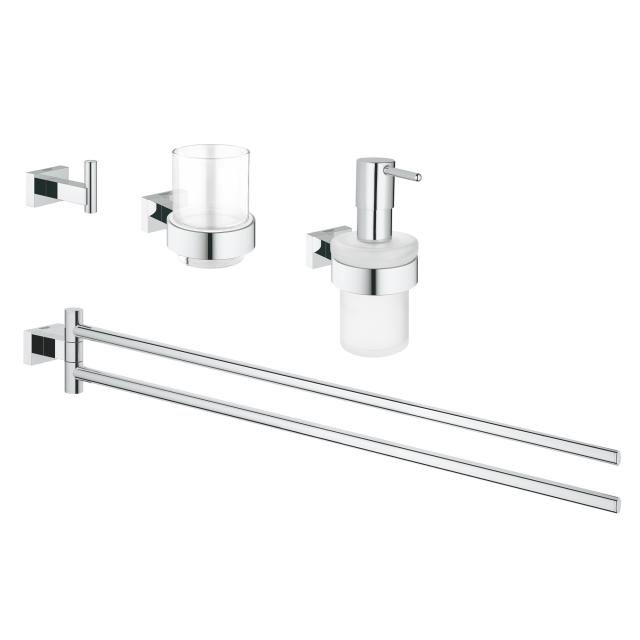 Grohe Essentials Cube bathroom set 4 in 1 chrome
