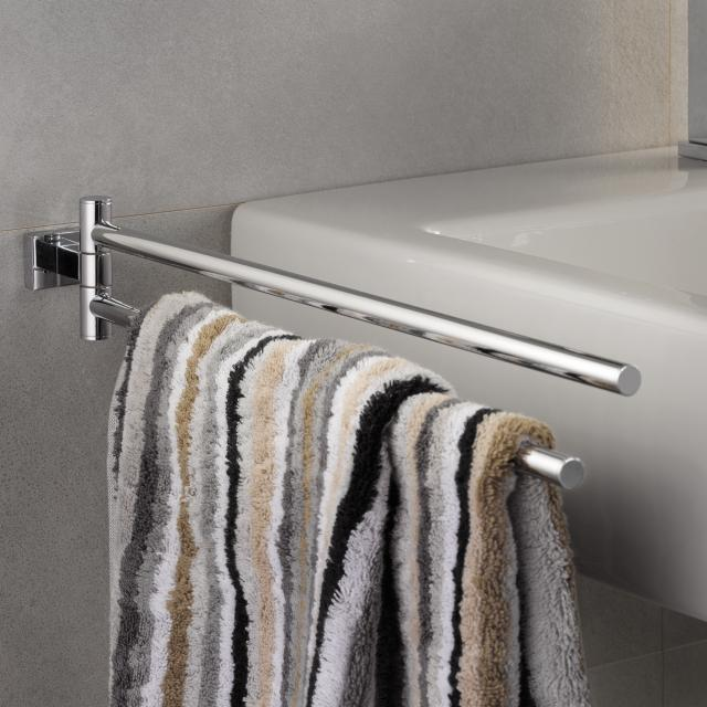 Grohe Essentials Cube double towel bar