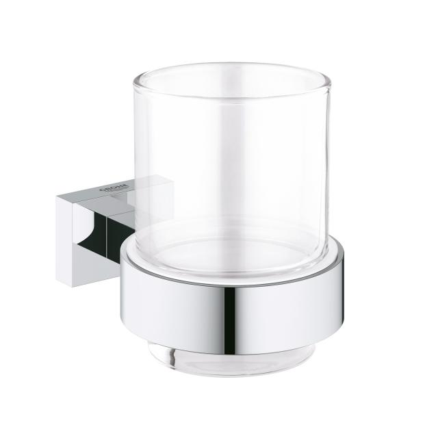 Grohe Essentials Cube tumbler with holder