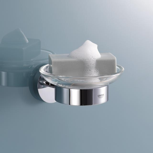 Grohe Essentials soap dish with holder chrome